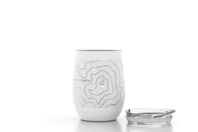 Topography Maps 12 oz Insulated Wine Tumbler