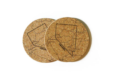 Nevada - Cork Coaster Pair