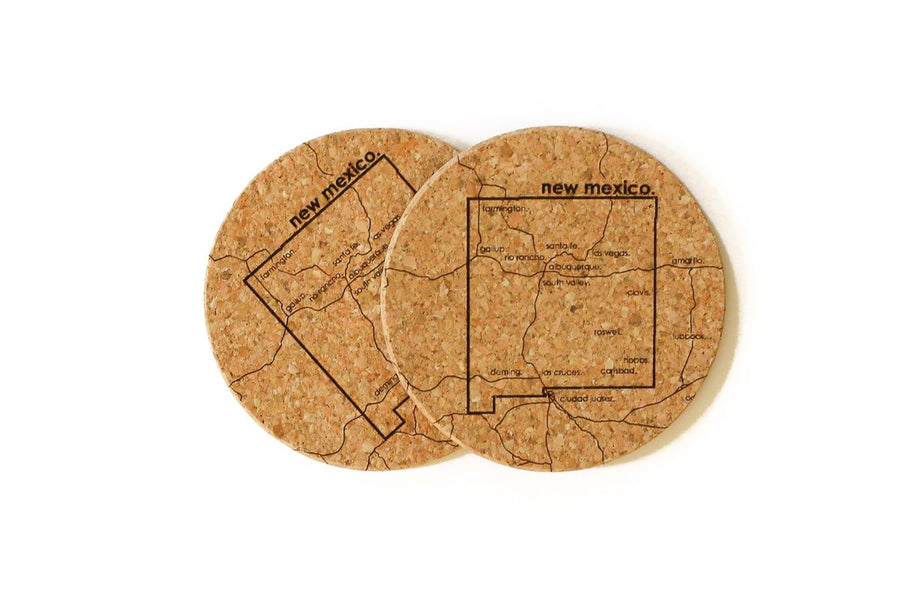 New Mexico - Cork Coaster Pair