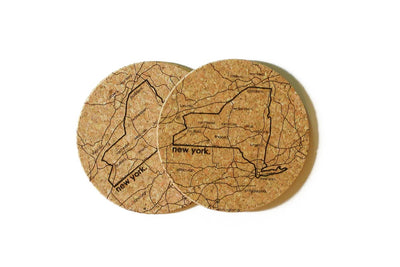 New York - Cork Coaster Pair