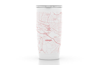 Raleigh, NC - NC State Univ - Color College Town 20oz Insulated Pint Tumbler