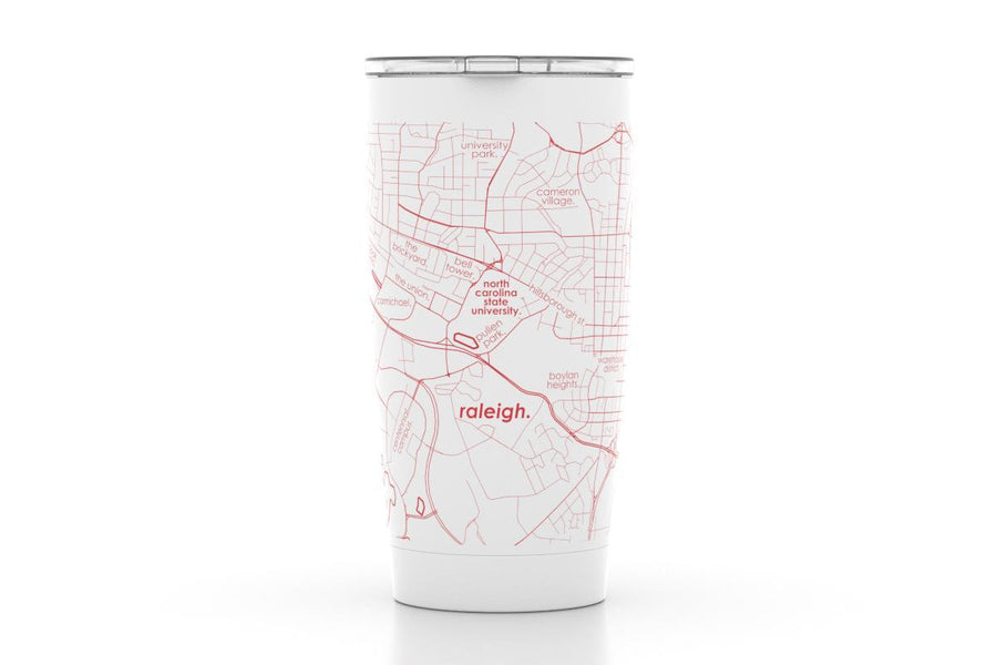 Raleigh, NC - NC State Univ - Color College Town 20 oz Insulated Pint Tumbler