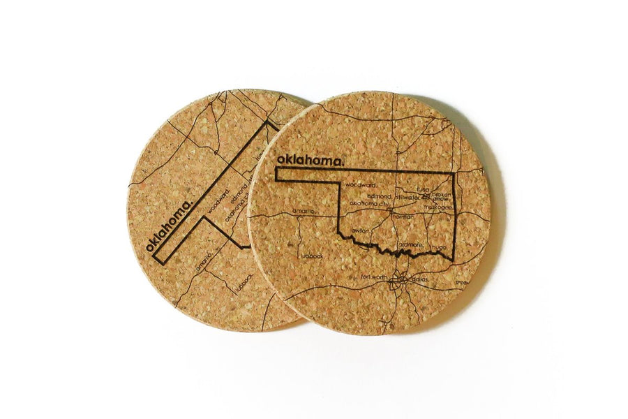 Oklahoma - Cork Coaster Pair