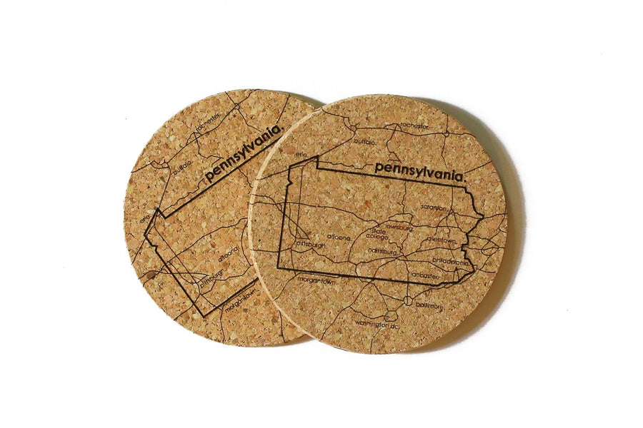 Pennsylvania - Cork Coaster Pair