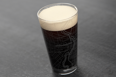 Philadelphia Map Pint Glass
