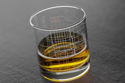 Phoenix Map Rocks Glass