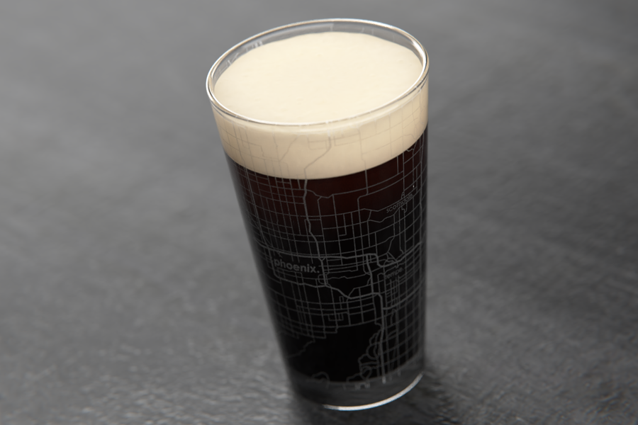 Phoenix Map Pint Glass