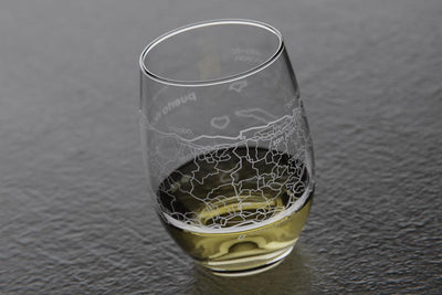 Puerto Rico Island Stemless Wine Glass