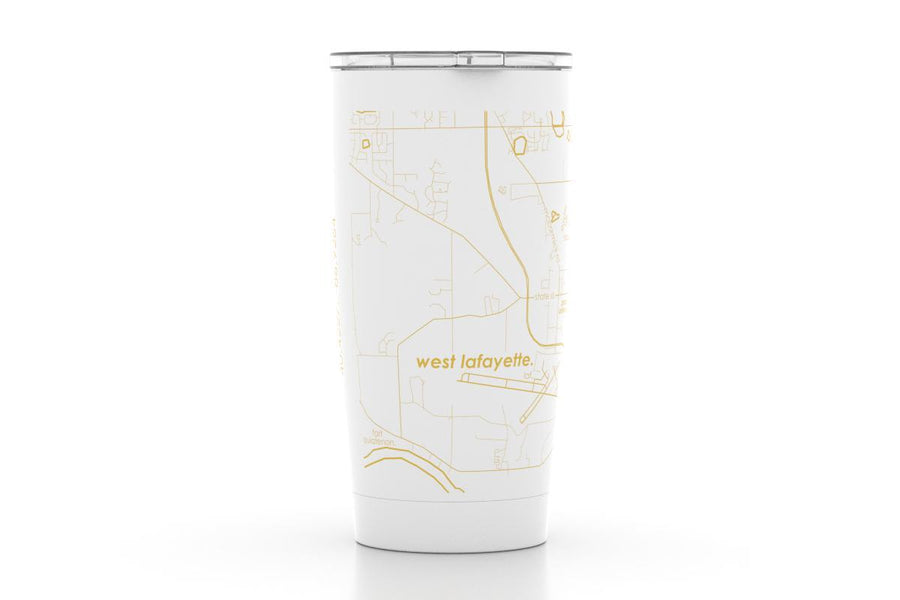 West Lafayette, IN - Purdue - Color College Town 20 oz Insulated Pint Tumbler