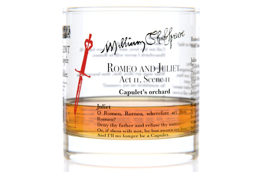 Romeo and Juliet - Shakespeare Rocks Glass