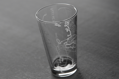 San Francisco Map Pint Glass