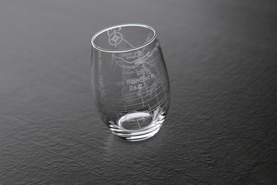 San Francisco 26.2 - Marathon Map Stemless Wine Glass