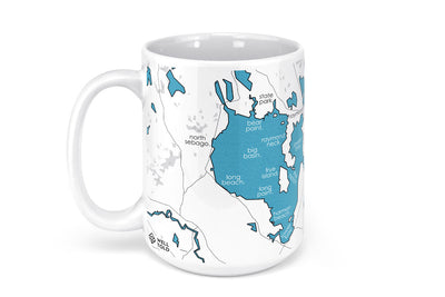 Sebago Lake Map Mug - 15oz