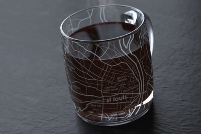 St Louis Map Coffee Mug