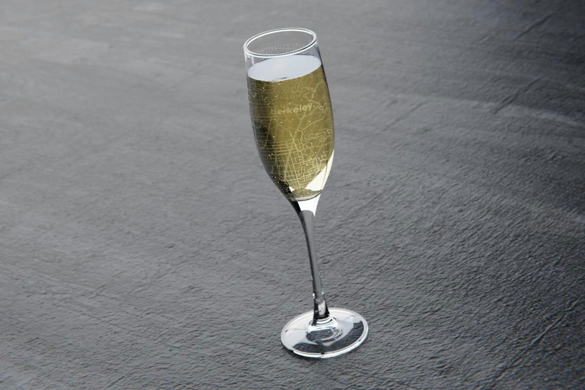 Custom Map Engraved Champagne Glasses Well Told