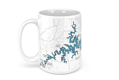 Table Rock Lake Map Mug - 15oz