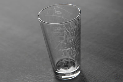 Home Town Maps Pint Glass