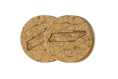 Tennessee - Cork Coaster Pair