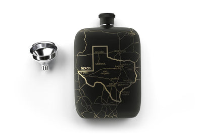 State Maps Pocket Flask