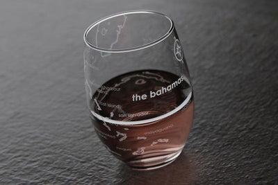 Bahamas Island Stemless Wine Glass