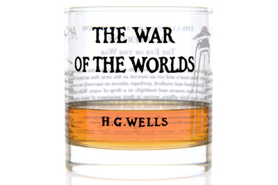 The War of the Worlds - H.G. Wells Rocks Glass