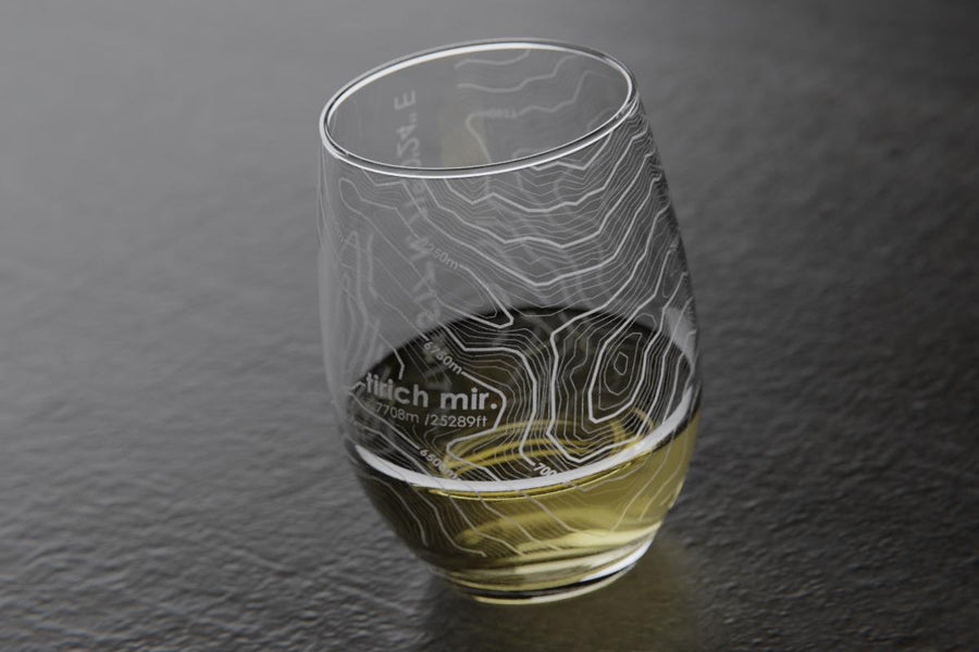Topography Maps Stemless Wine Glass