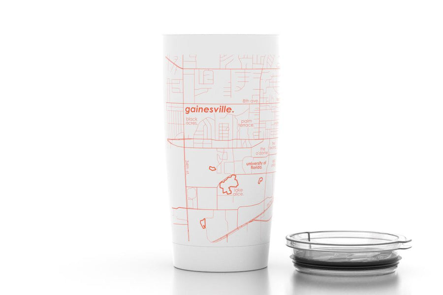 Gainesville, FL - Univ of Florida - Color College Town 20 oz Insulated Pint Tumbler