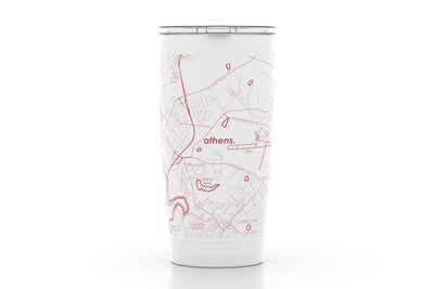Athens, GA - Univ of Georgia - Color College Town 20 oz Insulated Pint Tumbler