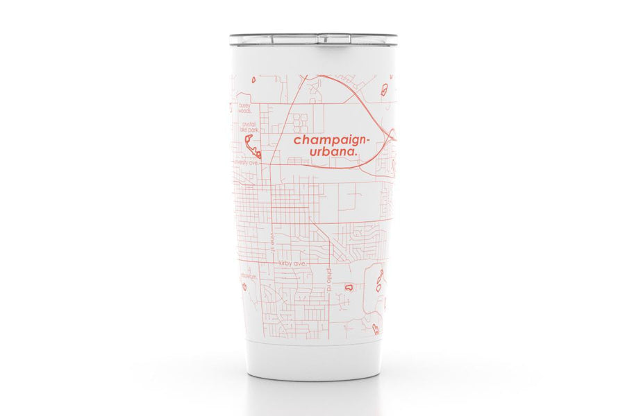 Urbana/Champaign, IL - Univ of Illinois - Color College Town 20 oz Insulated Pint Tumbler