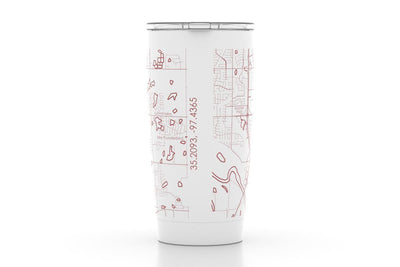 Norman, OK - Univ of Oklahoma - Color College Town 20oz Insulated Pint Tumbler