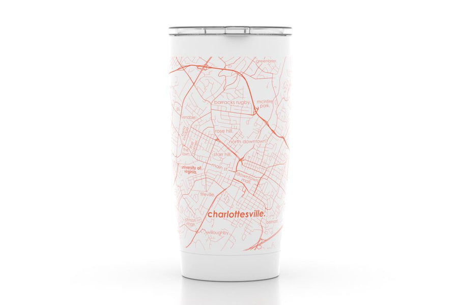 Charlottesville, VA - UVA - Color College Town 20oz Insulated Pint Tumbler