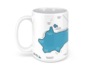 Walden Pond Map Mug - 15oz