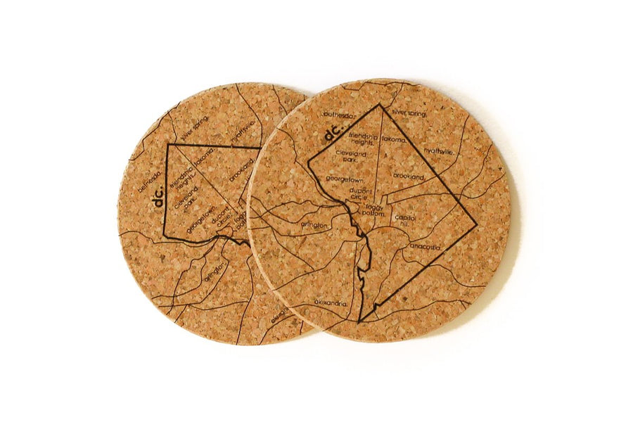 Washington DC - Cork Coaster Pair