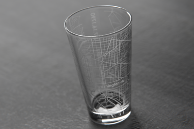Washington DC Map Pint Glass