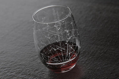 Custom Night Sky Stemless Wine Glass