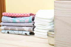cloth wipes, zero waste parenting tips, gabiba.com