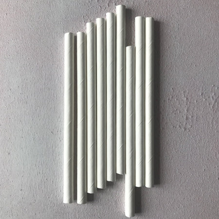 BAR Cocktail Bulk Paper Straws - Plain White