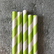 CLASSIC 6mm Bulk Paper Straws - Striped Pink