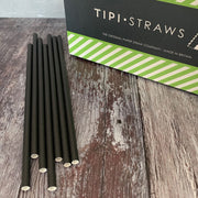 DEAL CASE - Classic Black Paper Straws Case of 3000