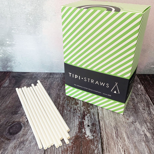 DEAL CASE - Classic White Paper Straws Case of 3000