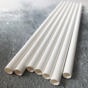 BUBBLE TEA 12mm Bulk Paper Straws - Striped Green