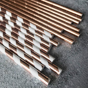 Foil Plain Paper Straws -  Rose Gold