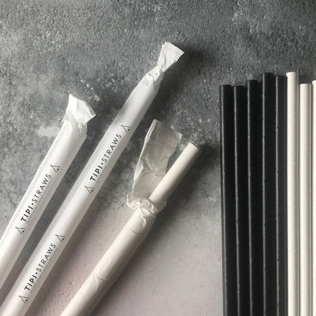 Classic Paper Straws WRAPPED BESPOKE LOGO