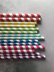 Fat Plain Paper Straws - Kraft Natural
