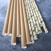 Camouflage Paper Straws