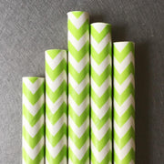Chevron Paper Straws - Lime