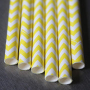 Chevron Paper Straws - Yellow