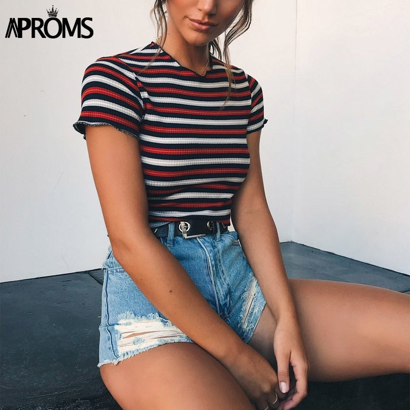 Multi Striped Casual T-shirt - techtobody