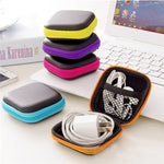 Vibrant Square Earphone and Wire Organizer Box - techtobody