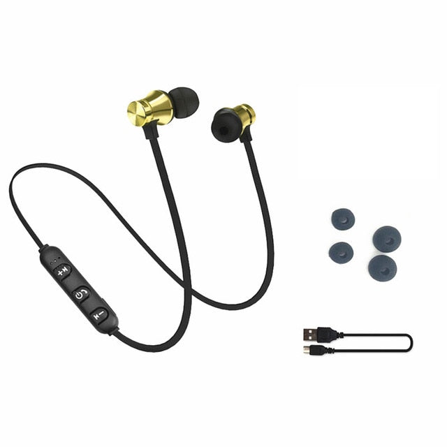 Bluetooth Earphones with Charging Cable Build-in Mic - techtobody